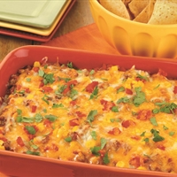 Enchilada Bean Dip with Corn