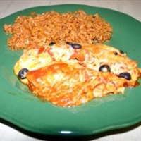 Enchiladas con Pollo - right out of the can