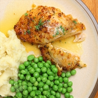 Feta and Bacon Stuffed Chicken with Onion Mashed Potatoes