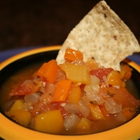 Fiery Yellow & Red Pepper Salsa