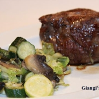 Fillet Mignon with Fall Sauteed Vegetables