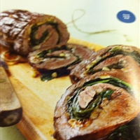 Flank Steak Roll With Spinach & Garlic
