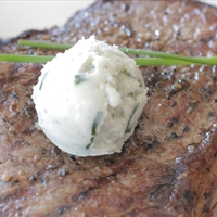 Flank Steak with Blue Cheese Butter