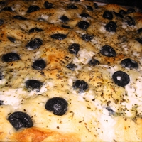 Focaccia bread in the bread maker to start it