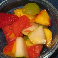Fresh Fruit Salad W/ Honey-mint Dressing