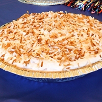Frozen Coconut, Pecan and Caramel Pie