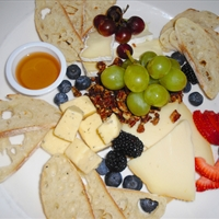 Fruit, Cheese and Bread Plate