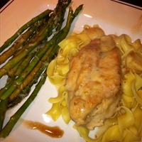 Garlic Chicken in a White Wine Sour Cream Sauce