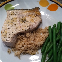 Garlic Ginger Swordfish