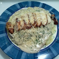 Garlic Mushroom Chicken Alfredo Ala David