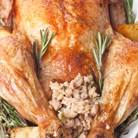 Garlic-Rosemary Turkey with Mushroom Gravy