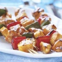 George's Barbecue Chicken Kabobs