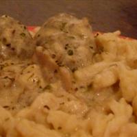 German Meatballs and Spaetzle