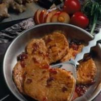 Ginger-Plum Pork Chops
