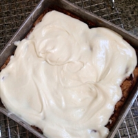 Grandmothers Fresh Apple Cake and Cream Cheese Icing