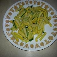 Grated Zucchini and Yellow Squash