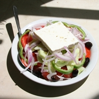 Greek Salad (choriatiki) -  A journey to the islands