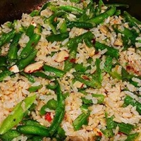 Green Bean Almond Rice