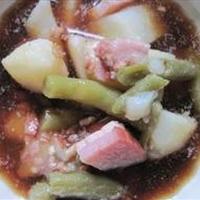 Green Bean, Potato & Ham Stew