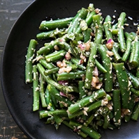Green Beans with Balsamic, Basil and Parmesan