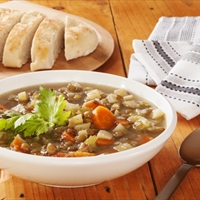 Green Lentil Soup (Vegan)