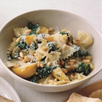 Greens and Farfalle Soup