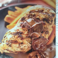 Grilled breast of chicken marsala