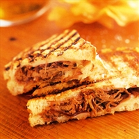 Grilled Cheese with Pulled Short Ribs and Pickled Red Onions