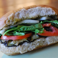 Grilled Eggplant Sandwich with Pesto And Asiago (Dj/ln)