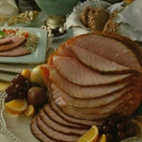 Grilled Ham with Lemon-Orange Glaze