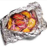 Grilled Plums and Onions