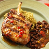 Grilled Pork Chops with Two Chili Sweet Sauce