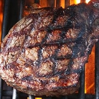 Grilled Rib Eye Steaks