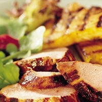 Grilled Teriyaki Pork Tenderloin and Pineapple