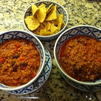 Ground Turkey & Black Bean Chili
