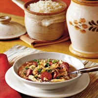 Gumbo (sausages and chicken)