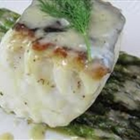 Halibut Supreme w/cheese dill sauce