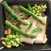 Halibut with Soba Noodles