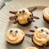 Halloween Googly-Eye and Spider Brownie Bites