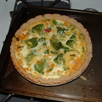 Ham n Cheese Broccoli Quiche