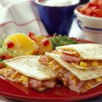 Ham Quesadillas