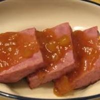 Ham with sauce