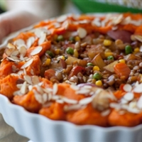 Harvest Vegetable Shepherd's Pie with Mashed Yams