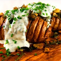 Hasselback Potatoes With Bacon & Cheese