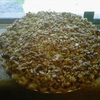 Hazelnut Apple Crumb Pie