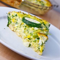 Herbed Zucchini and Feta Quiche with a Brown Rice Crust from Closet Cooking