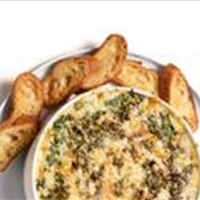 Hot Spinach Dip with Mushrooms
