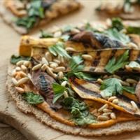 Hummus Veggie Pizza