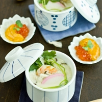 India-Chawanmushi with Shrimp
