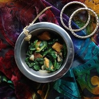 Indian Potatoes with Spinach